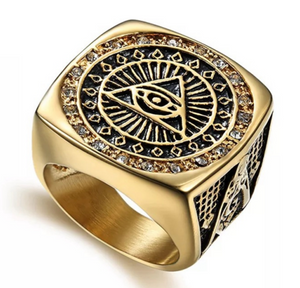 All Seeing Eye Freemason Stainless Steel Ring - RAREBoutiques