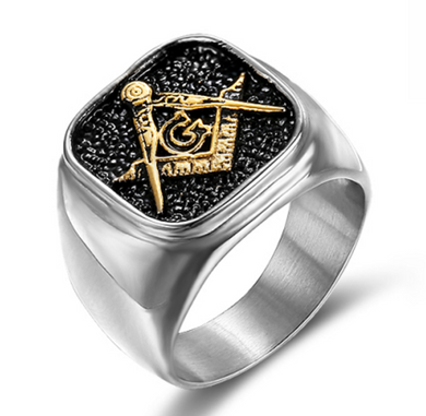 Freemason two Tone Stainless Steel Ring - New Design - RAREBoutiques