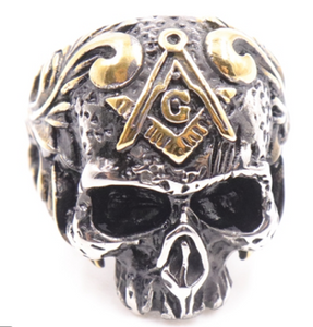 Skull Freemason Stainless steel Ring 316L - RAREBoutiques