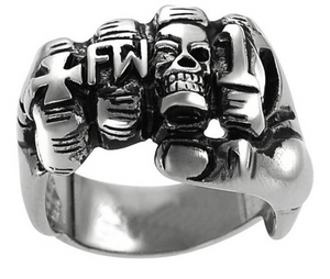 Biker Fist Ring Stainless Steel  316L - RAREBoutiques
