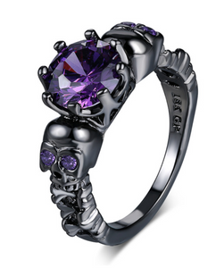 Woman's Skeleton and CZ Ring - RAREBoutiques