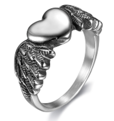 Woman's Biker Heart  Stainless Steel  Ring - RAREBoutiques
