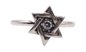 Woman's Star of David Stainless Steel Ring