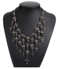 Skull and Cross Necklace Choker
