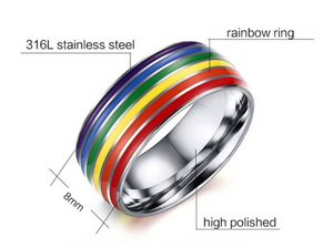 Stainless Steel Bands - Rainbow