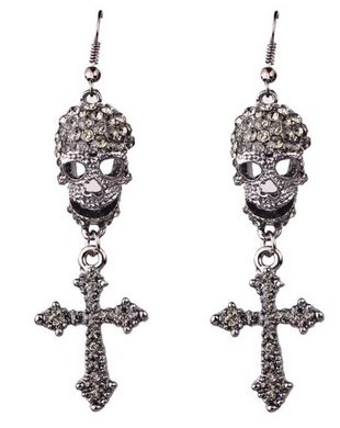 Skull and Cross Earrings