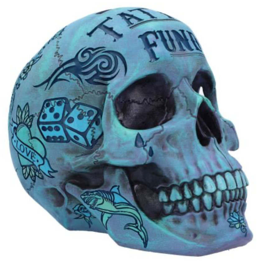 Tattoo Fund Skull ( BLUE)