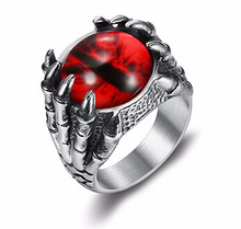NEW ITEM - Stainless Steel Dragons Eye Ring Red / Purple