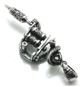 Stainless Steel Tattoo Machine Pendant - Style C