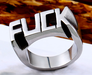 Stainless Steel - F@CK Ring - RAREBoutiques