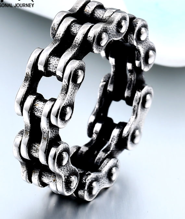 Bike Chain - Stainless Steel Ring - RAREBoutiques