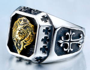 Lion Head Stainless Steel Ring