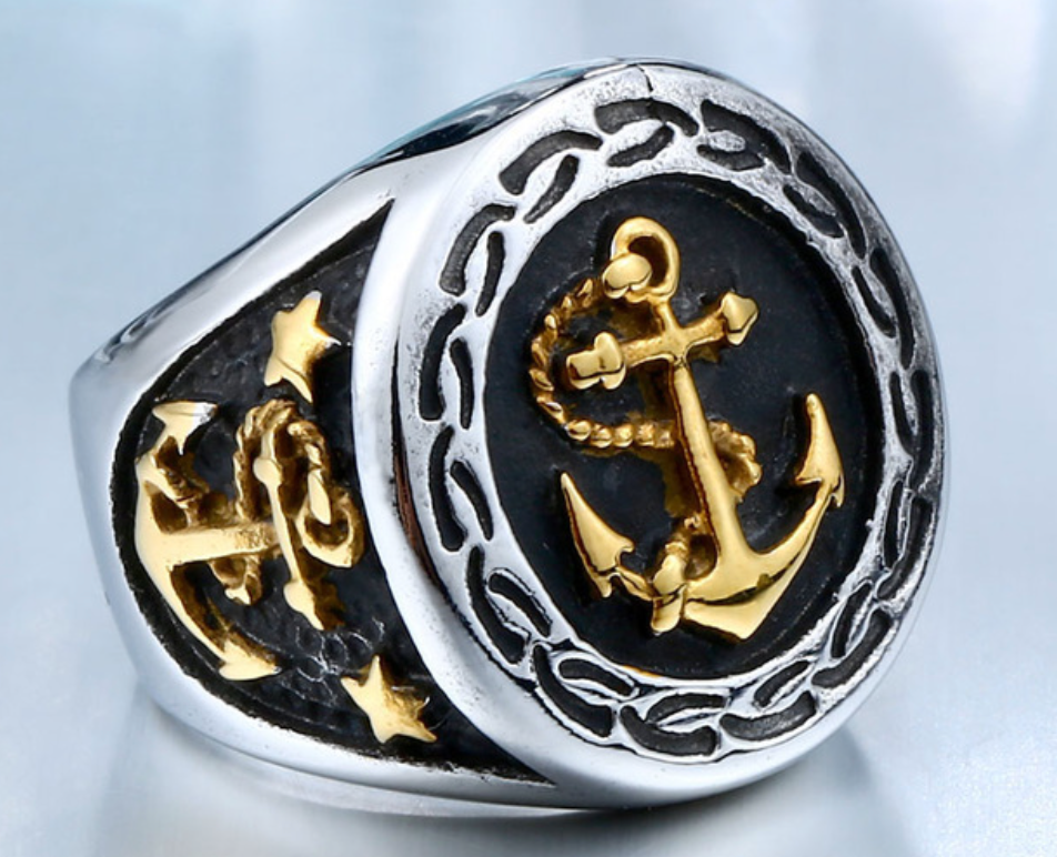 Anchor - Stainless Steel Ring - RAREBoutiques