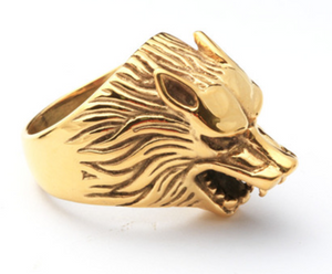 Gold Wolf - Stainless Steel Ring