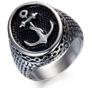 Anchor Stainless Steel Ring - 316L - RAREBoutiques