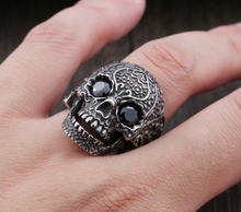 Stainless Steel Sugar Skull design - Red or Black Eyes - RAREBoutiques