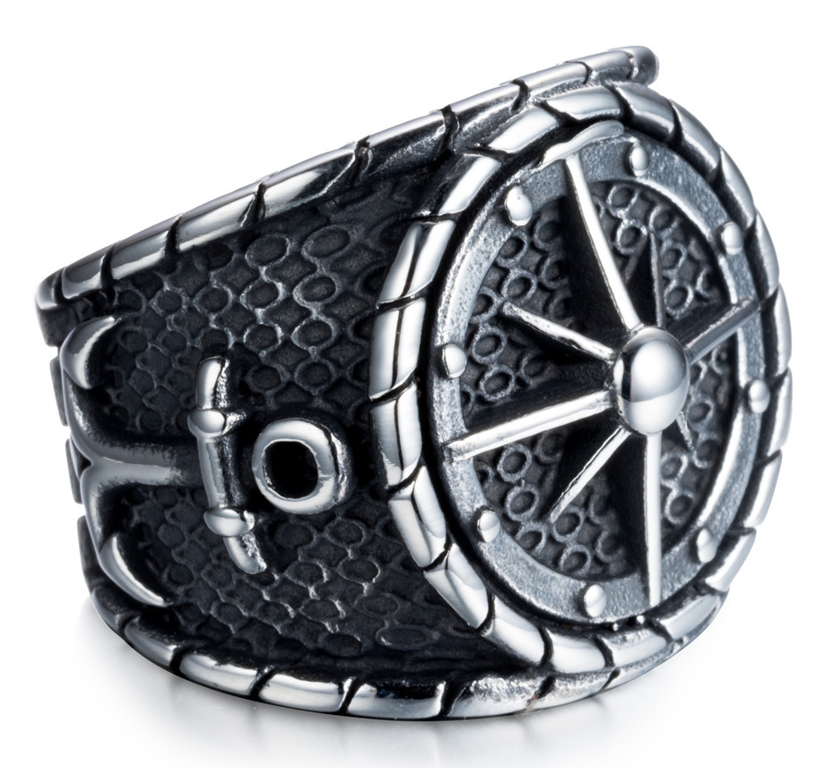 Viking Compass Stainless Steel Ring - RAREBoutiques