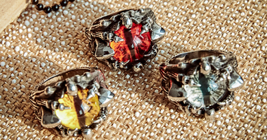 Dragons Eye - Stainless Steel Ring  Red / Yellow or Blue Eye - RAREBoutiques