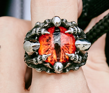 Dragons Eye - Stainless Steel Ring Red / Yellow