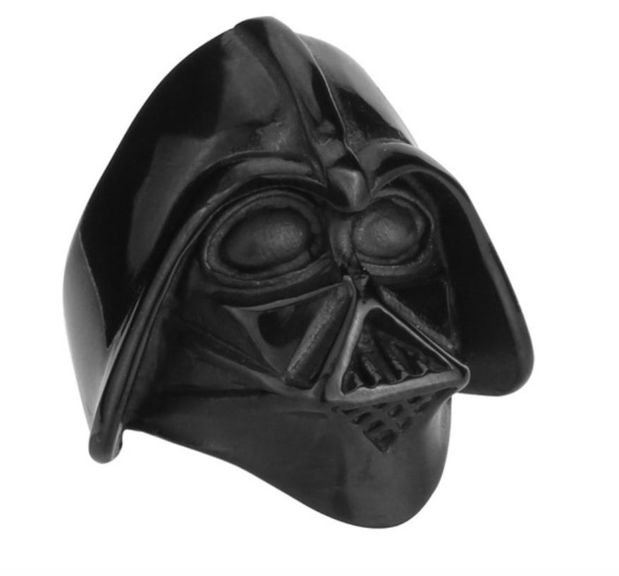 Darth Vader Black Stainless Steel Ring