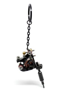 Mini Tattoo Machine Key Chain - Functional model E - RAREBoutiques