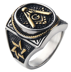 Free Mason stainless steel ring
