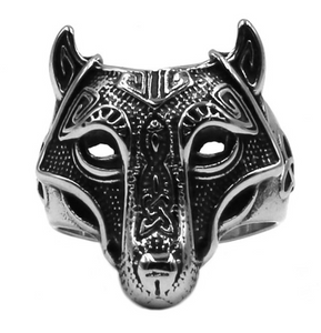 Nordic Wolf Stainless steel Ring - RAREBoutiques