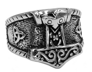 Nordic style Thor's hammer Stainless Steel Ring