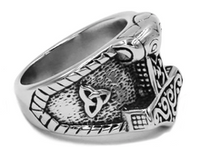 Nordic style Thor's hammer Stainless Steel Ring - RAREBoutiques