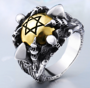 2 Tone Star of David Stainless Steel Ring - RAREBoutiques