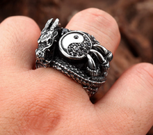 Dragon / Yin & Yang Stainless Steel Ring - RAREBoutiques