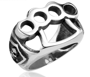 Brass Knuckle design Stainless Steel Ring - RAREBoutiques
