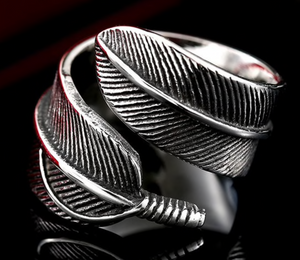 Feather Ring - Stainless Steel - RAREBoutiques