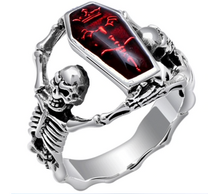 Coffin Red - Stainless Steel 316L Sizes 7 - 13 - RAREBoutiques