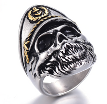 Skull Captain Stainless Steel 316L sizes 7 -13 - RAREBoutiques