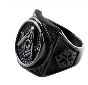 Free Mason stainless steel ring 316 L Sizes 7 - 13 - RAREBoutiques
