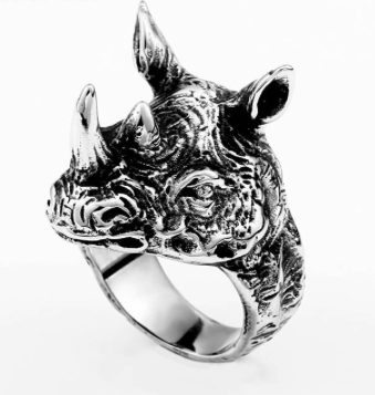 Rhino Stainless steel Ring 316L - Sizes 7 -13 - RAREBoutiques