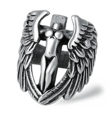 Winged Angel Stainless Steel Ring - RAREBoutiques