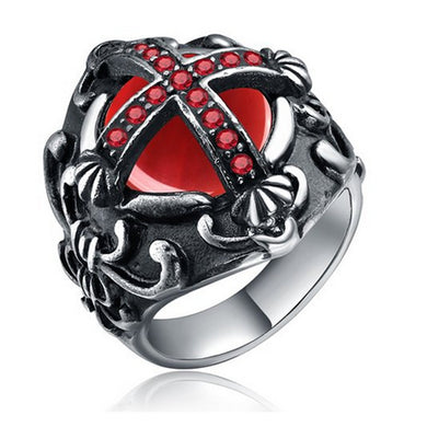 Knights Templar Cross Ring - Stainless Steel 316L  Stainless or Black Finish - RAREBoutiques