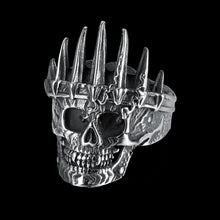 Stainless Steel Spiked Skull Ring