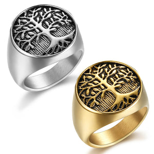 Tree Of Life Stainless Steel Ring 316L - Sizes 7 - 15 - RAREBoutiques