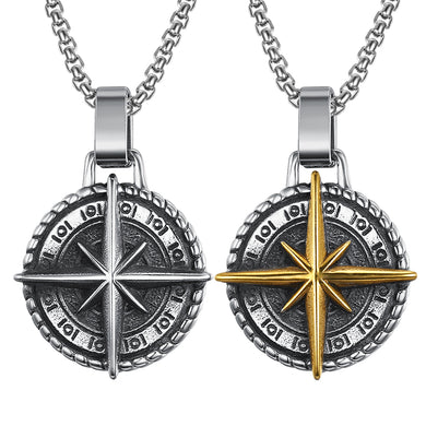 Stainless Steel Viking Cross Necklace & Chain - Two Options