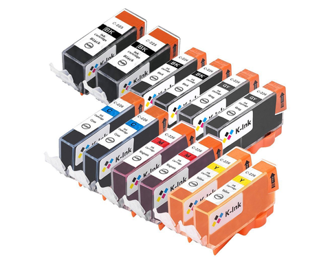 12 Pack Compatible Ink Cartridges Replacement for Canon PGI-225/CLI-226 (BB/SB/G/C/M/Y)