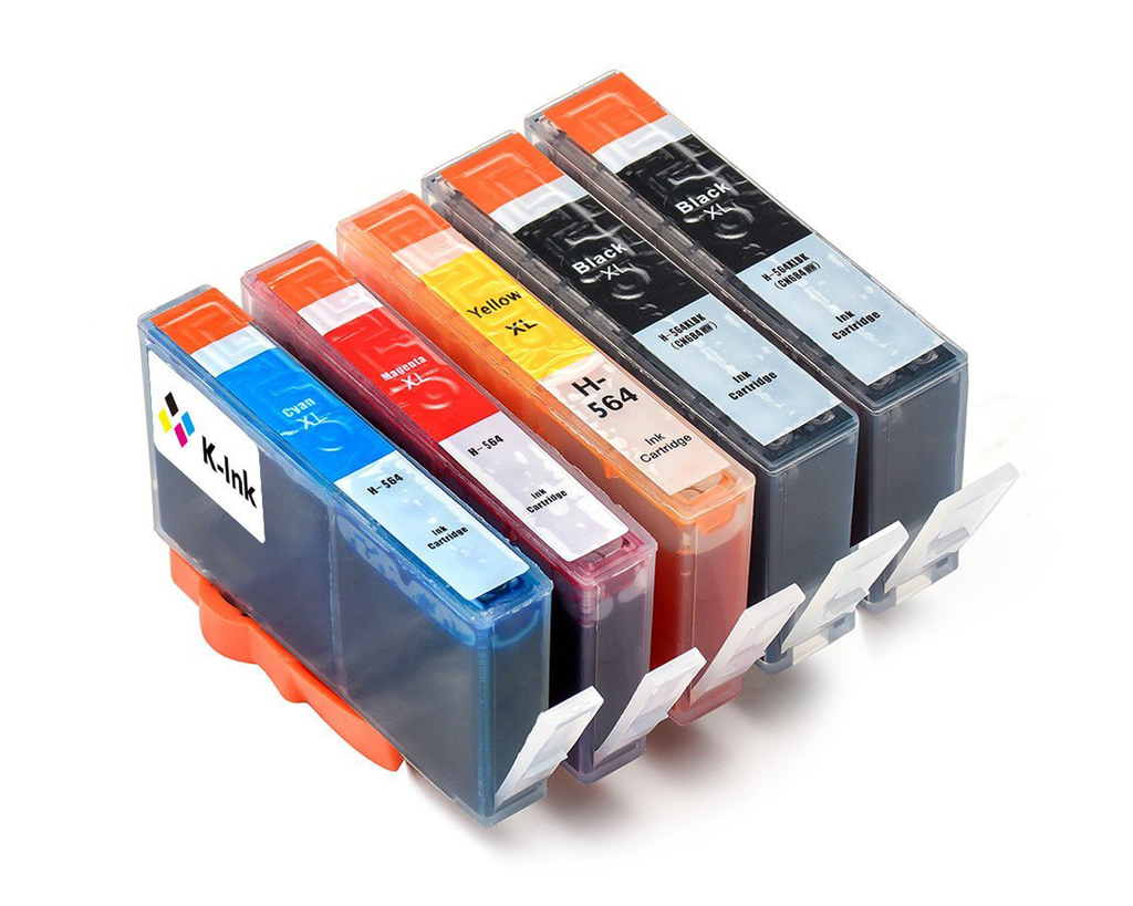 5 Pack Compatible Ink Cartridges Replacement for HP 564XL (BB/C/M/Y)