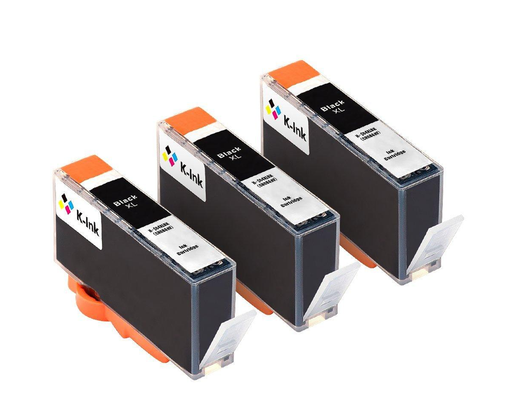 3 Pack Compatible Ink Cartridges Replacement for HP 564XL(3 Black)