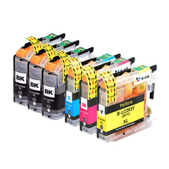 6 Pack Compatible Ink Cartridges Replacement for Brother LC203 LC201 LC 203 XL LC 201