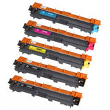 5 Compatible Toner Cartridge Replacements for Brother TN-221 TN-225 (Black, Cyan, Magenta, Yellow)
