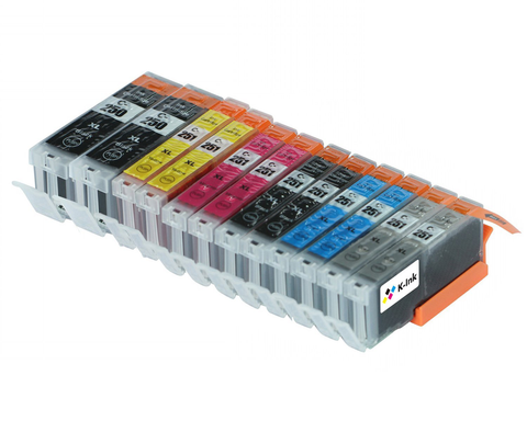 12 Pack Compatible Ink Cartridges Replacement for Canon PGI250/CLI-251 (LB/SB/C/M/Y/G)