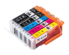 5 Pack Compatible Ink Cartridges Replacement for Canon PGI-250/CLI-251 (LB/SB/C/M/Y)