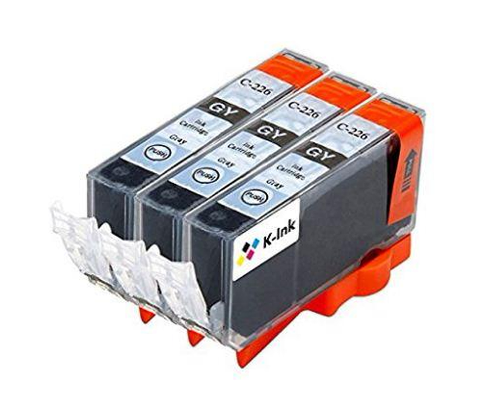 3 Compatible Ink Cartridges Replacement for Canon CLI-226 (Gray)